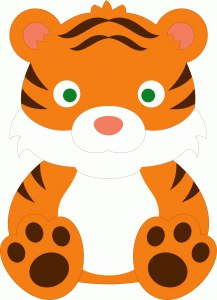 Moldes para hacer tigres de fieltro para imprimir09