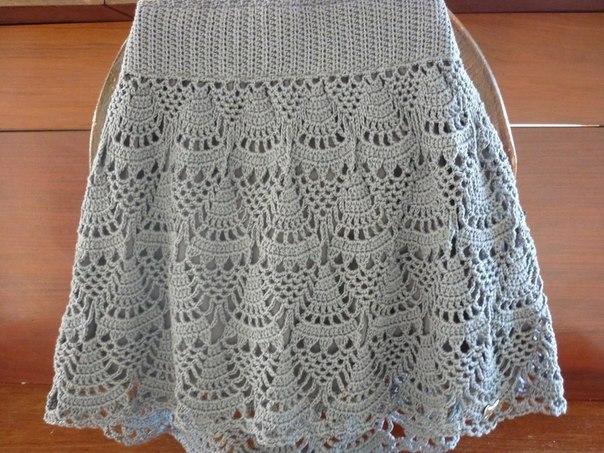 Esquema de falda en chrochet