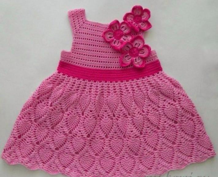 moldes de vestidos a crochet para niña (1)