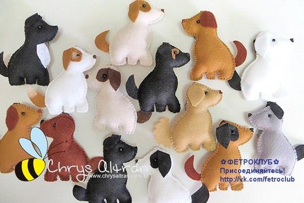 moldes para hacer perros de fieltro05