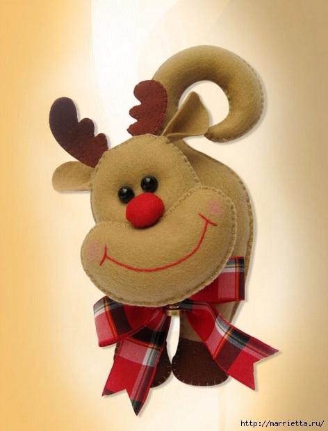 patrones de renos navideños en fieltro (2)