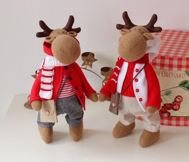 patrones de renos navideños en fieltro (3)