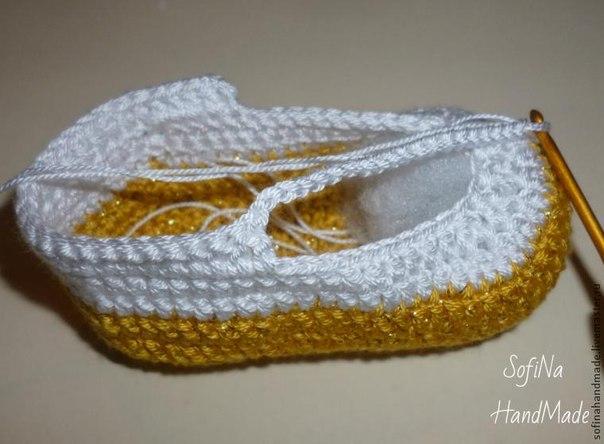 zapatitos crochet 2 colores paso a paso (7)