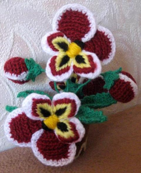 Flores a crochet ideas y ganchillo08