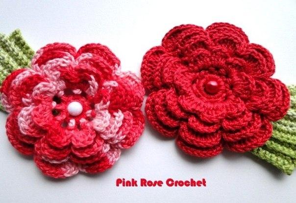Flores a crochet patrones01