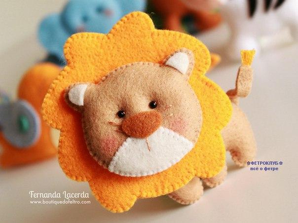 Molde para hacer un leon con fieltro01