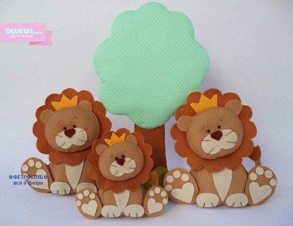 Molde para hacer un leon con fieltro05