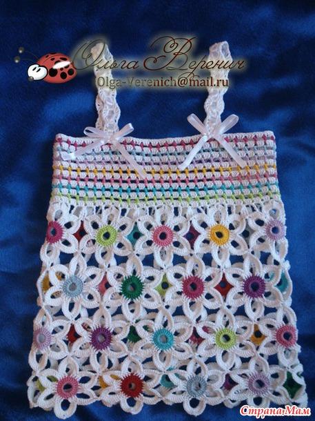 conjunto niña hecho a crochet con flores patrones03