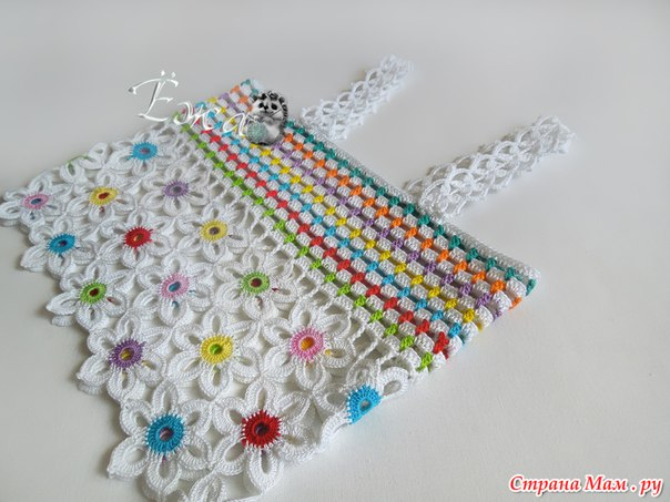 conjunto niña hecho a crochet con flores patrones07