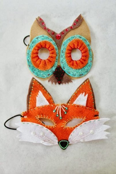 mascara de animales en fieltro patrones04