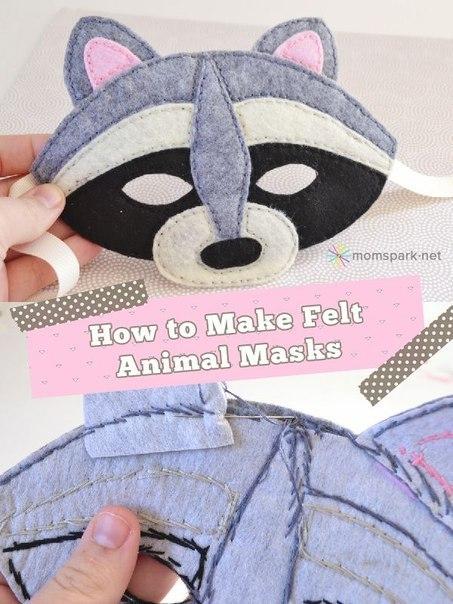 mascara de animales en fieltro patrones05