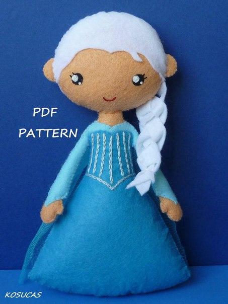 princesas disney de fieltro patrones05