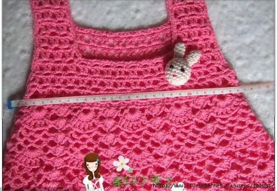vestidos niña tejidos crochet patrones (1)