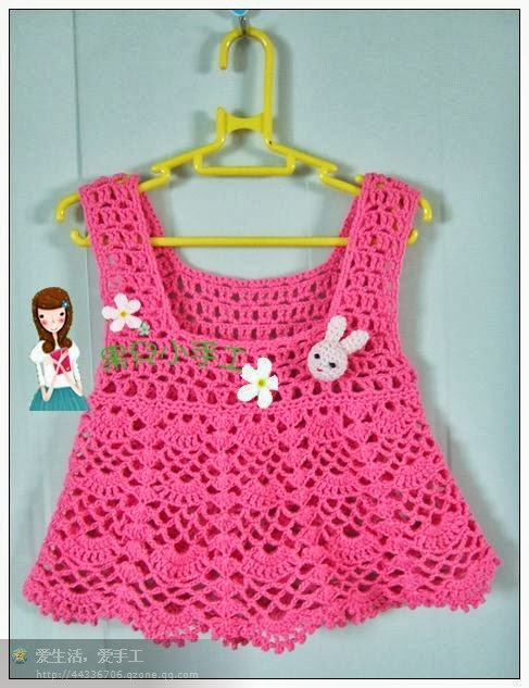 vestidos de niña tejidos a crochet modelos
