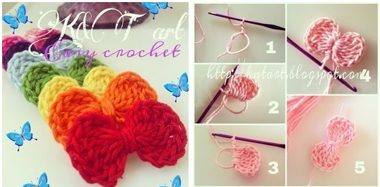 Lazos tejidos a crochet patrones