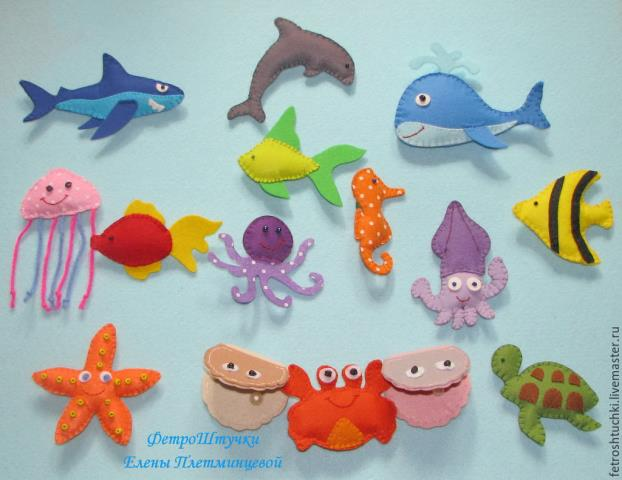 Modelos para hacer animales marinos con fieltro02