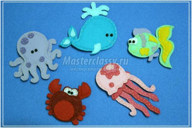 Modelos para hacer animales marinos con fieltro03