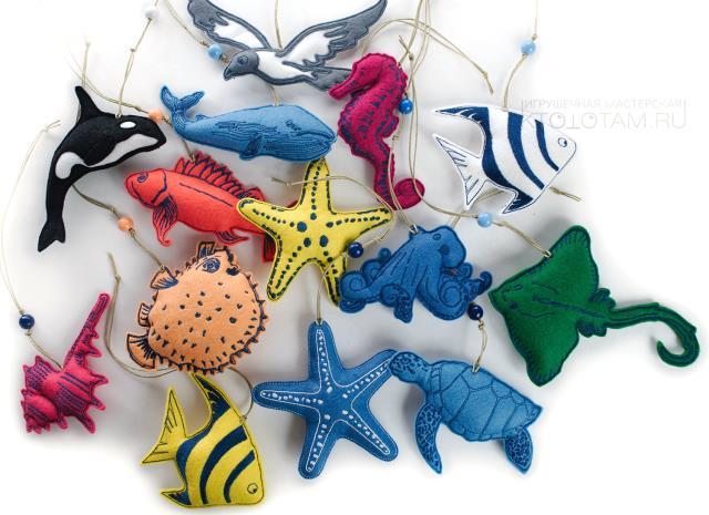 Modelos para hacer animales marinos con fieltro06