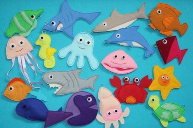 Modelos para hacer animales marinos con fieltro07