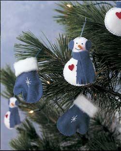 Molde y patrones de Muñecos de Nieve Navideño01