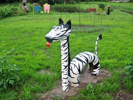 decoracion de jardin con materiales reciclables0502