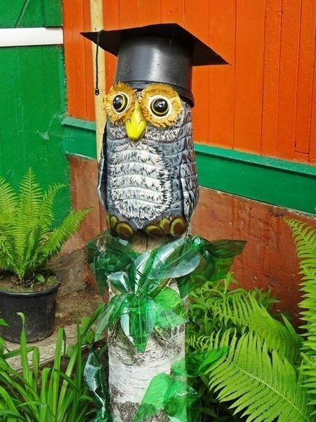 decoracion de jardin con materiales reciclables0504