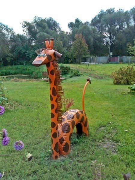 decoracion de jardin con materiales reciclables0506