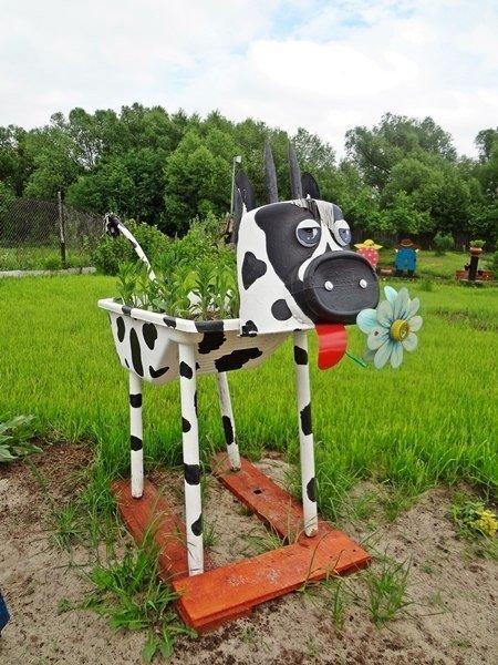 decoracion de jardin con materiales reciclables0508