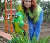 decoracion de jardin con materiales reciclables #5