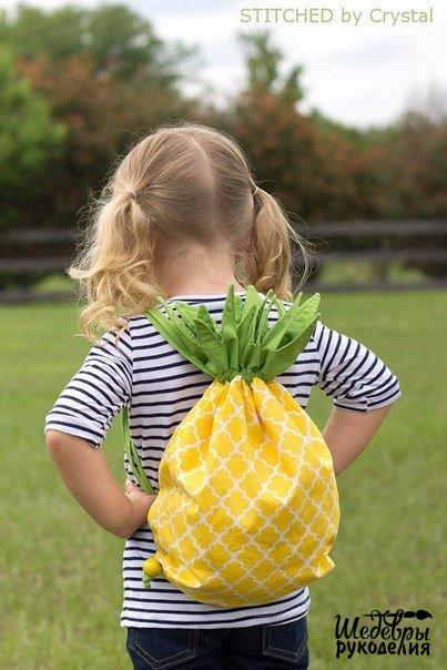 hacer una bolsa con forma de piña01