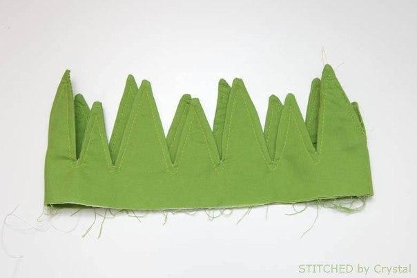 hacer una bolsa con forma de piña05