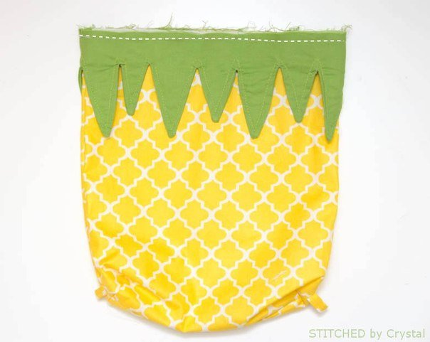 hacer una bolsa con forma de piña06