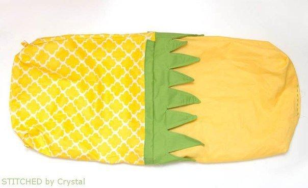 hacer una bolsa con forma de piña07