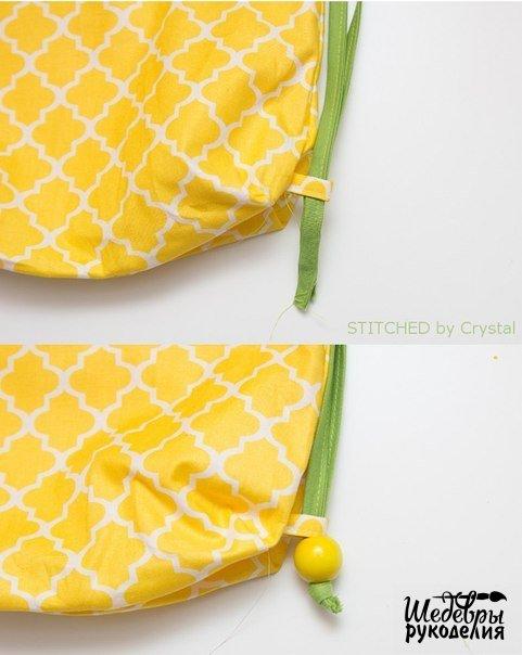 hacer una bolsa con forma de piña09