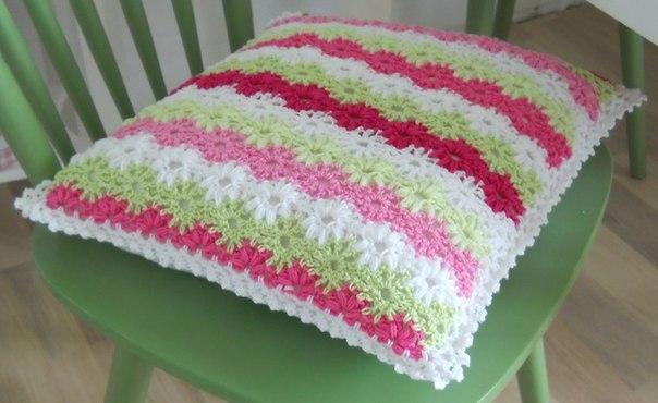 moldes para hacer una decoracion a crochet para almohadas y una manta09
