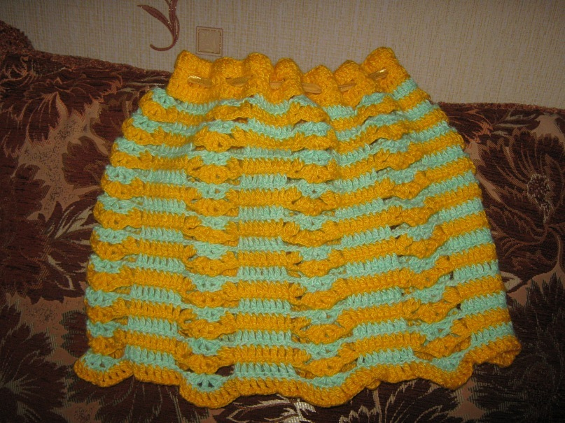 modelos para hacer una falda a crochet