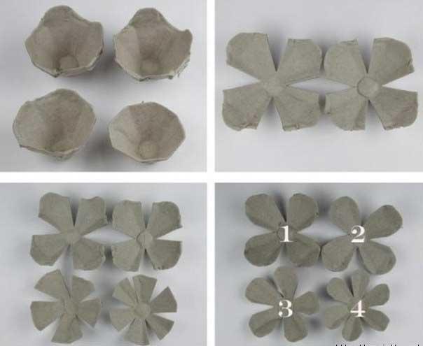 Como Reciclar Cartones De Huevo Para Hacer Flores Paso A Paso