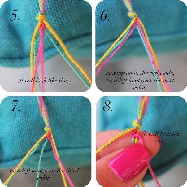 Como hacer pulseras con hilos para bordar patron (4)