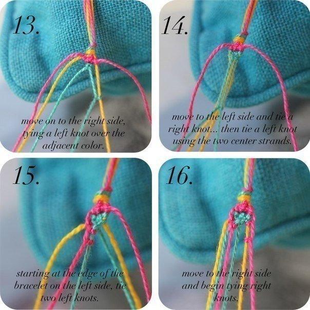 Como hacer pulseras con hilos para bordar patron (6)