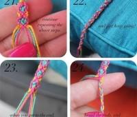 Como hacer pulseras con hilos para bordar patron