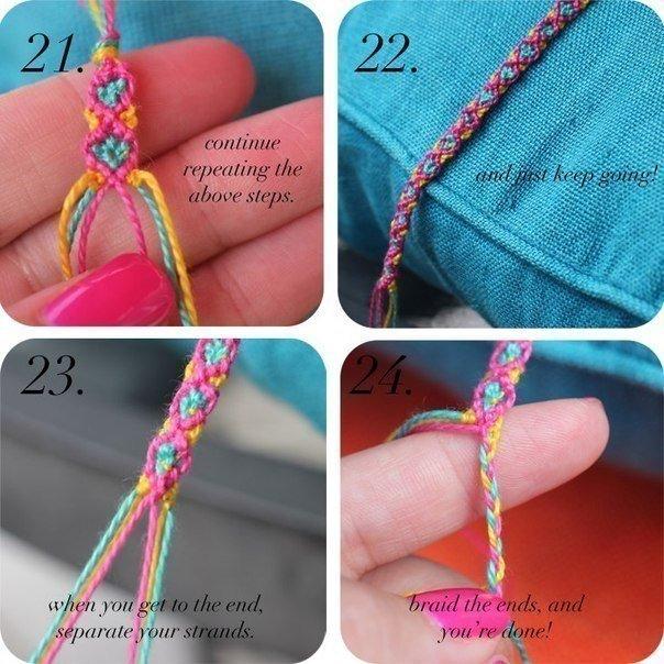 Como hacer pulseras con hilos para bordar patron (8)
