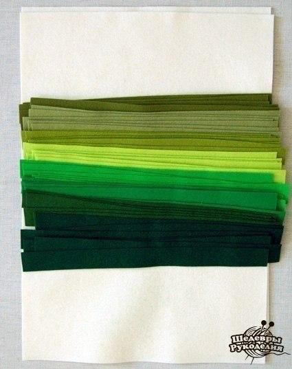 Como hacer un mantel individual con fieltro (2)