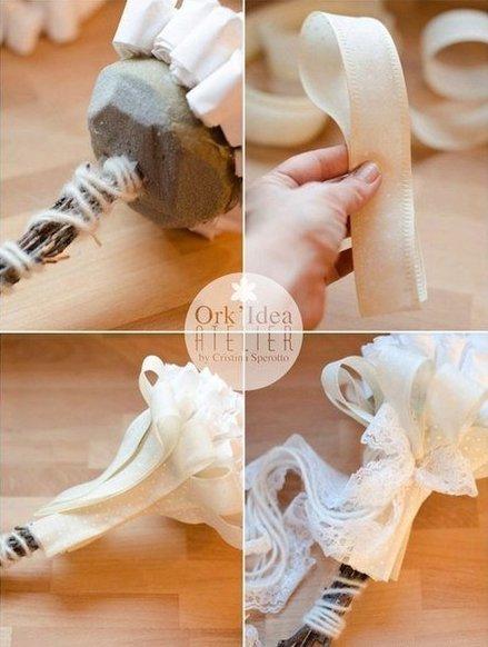 Como hacer un ramo de novia con flores de papel (5)