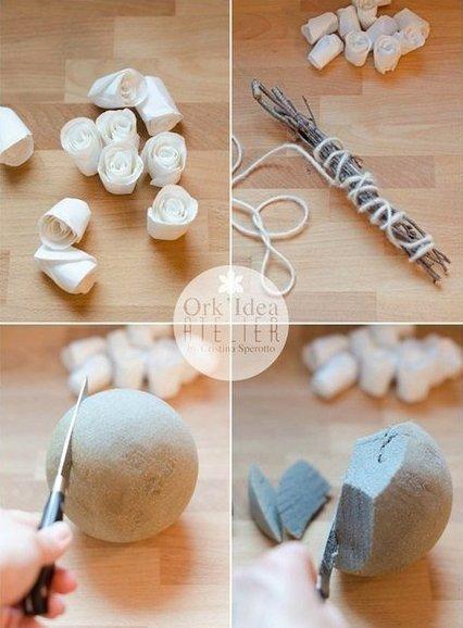 Como hacer un ramo de novia con flores de papel (6)