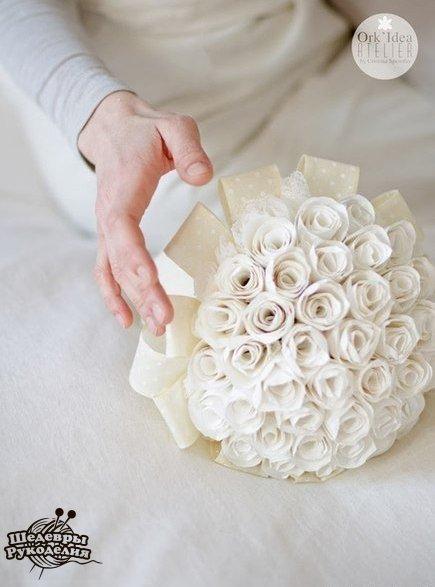 Como hacer un ramo de novia con flores de papel (9)