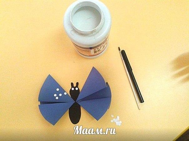 Como hacer una mariposa de papel paso a paso (6)