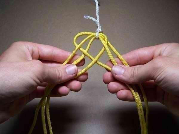 Como hacer una pulsera de 6 hilos patron (6)