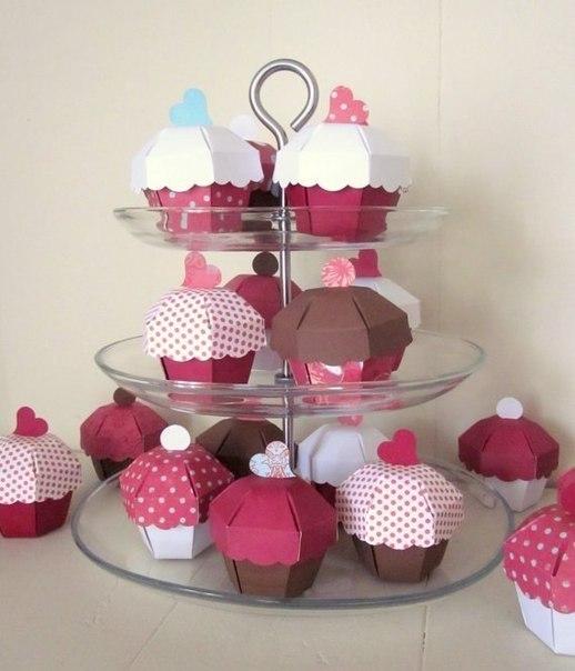 Molde para hacer cajas con forma de cup cake (1)