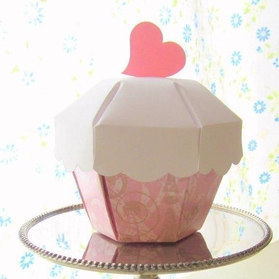 Molde para hacer cajas con forma de cup cake (4)