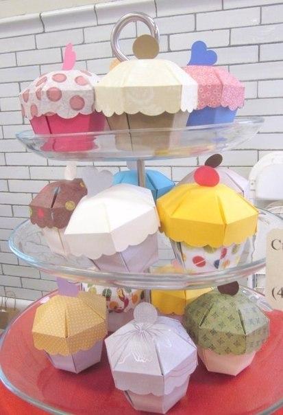 Molde para hacer cajas con forma de cup cake (5)